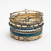 Free People Womens Best of the Best Hard Bangles - Brass, One