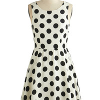 ModCloth Short Sleeveless A-line Dot You Forget About Me Dress