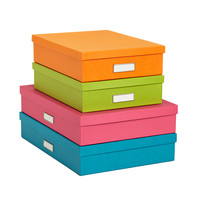 The Container Store > Bigso™ Bright Stockholm Office Storage Boxes