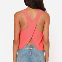 Love is Alive Coral Top