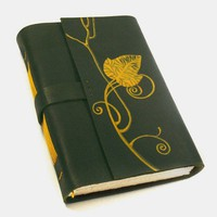 Vine Poem Leather Painted Blank Book by Baghy on Etsy