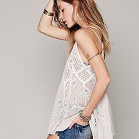 Free People Patchwork Crochet Tunic