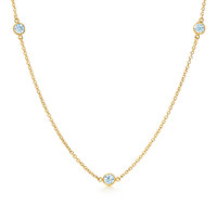 Tiffany & Co. - Elsa Peretti® Diamonds by the Yard® necklace in 18k gold.