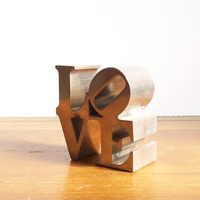 Vintage LOVE Paperweight, Robert Indiana Design
