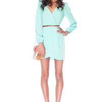 It's a Wrap Dress in Mint :: tobi