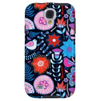 Bright Summer Floral Print Samsung Galaxy S4 Cover