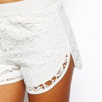 ASOS Lace Runner Shorts With Elasticated Waistband