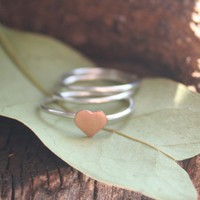 Don't You Love To Be Loved Stacking Rings  Made to Order by thenay