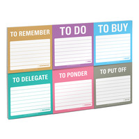 To Accomplish Sticky Note Packets by Knock Knock - knockknockstuff.com