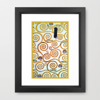 Gustav Klimt Tree of Life  Framed Art Print by BeautifulHomes
