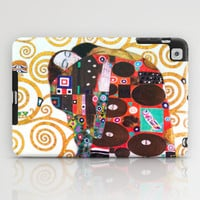 Love & Fulfillment - Gustav Klimt iPad Case by BeautifulHomes