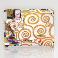 Love & Expectation - Gustav Klimt iPad Case by BeautifulHomes