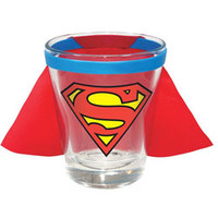 SUPERMAN CAPED SHOT GLASS (DC COMICS)