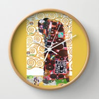 Love & Fulfillment - Gustav Klimt Wall Clock by BeautifulHomes