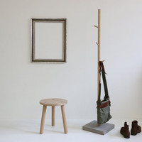 "coat stand - clothes tree - ""Stammhalter"" oak"