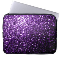 Beautiful Purple glitter sparkles laptop sleeve