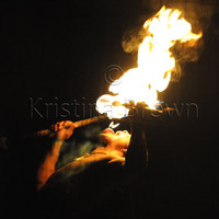 Fire Photo, Art Portrait Photography, Action, Danger, Fire Eater, Luau, Hawaii Photo, Flame, Art Print, Black, Orange, Glow