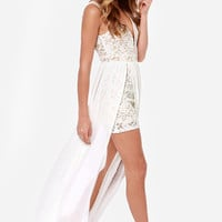 Make Way for Wonderful Ivory Lace Maxi Dress