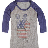 Peace USA Raglan