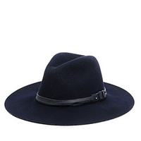 Wide Brim Fedora - Navy