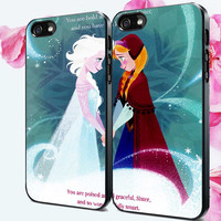 Couple Elsa Anna disney Frozen sister MCH Logo Design for iPhone 4/4s, iPhone 5/5s/5c, Samsung Galaxy s3/s4 Case