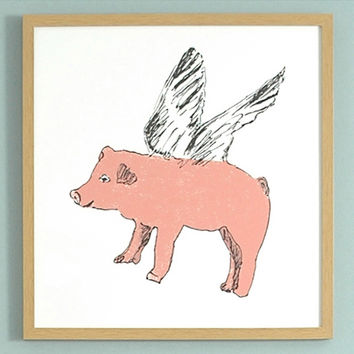 Flying Pig Print - Sian Zeng