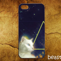 Cat Galaxy Nebula - Accessories,Case,Samsung Galaxy S2/S3/S4,iPhone 4/4S,iPhone 5/5S/5C,Rubber Case - OD21012014 - 21