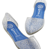 Jeffrey Campbell Confetti on the Dance Floor Flat in Silver