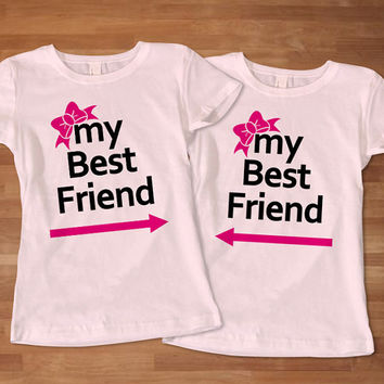 My Best Friend Woman Couples T-Shirt, Awesome Couple T-Shirt, Cute Couple T-Shirt