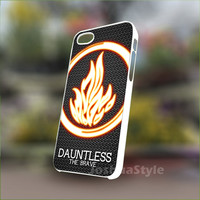 Divergent Dauntless The Brave - Personalized Case for iPhone 4/4s, 5, 5s, 5c, Samsung S3, S4, S3, S4 mini Pastic and Rubber Case.