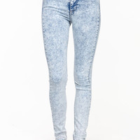 ACID WASH SKINNY JEGGINGS
