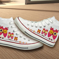 Owl Design Converse Shoes