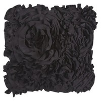Xhiliration All Over Ruffle Decorative Pillow - Black