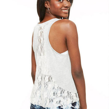 Lace Inset Back Tank -