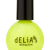 Glitter Neon Yellow Nail Polish