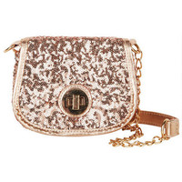 Mini Sequin Flap Crossbody