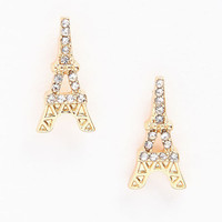RHINESTONE EIFFEL TOWER EARRINGS