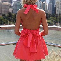 PRE ORDER - LIZZY TAYLOR DRESS (Expected Delivery 16th April, 2014) , DRESSES, TOPS, BOTTOMS, JACKETS & JUMPERS, ACCESSORIES, 50% OFF SALE, PRE ORDER, NEW ARRIVALS, PLAYSUIT, COLOUR, GIFT VOUCHER,,Pink,LACE,BACKLESS,SLEEVELESS Australia, Queensland, Brisba