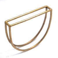 half moon bangle - bronze