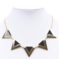 Epoxy Triangle Statement Necklace | Wet Seal