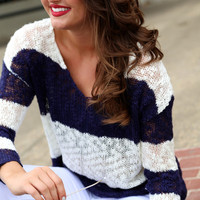 Weekend Knit {Navy + Cream}