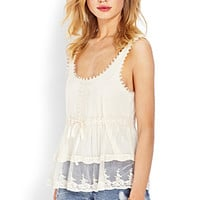 Crochet Lace Mesh Blouse