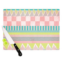 "Louise Machado ""Luna"" Pastel Pattern Cutting Board"