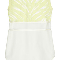 Alexander Wang Mesh-trimmed knitted tank – 60% at THE OUTNET.COM
