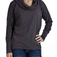 Essentials by A.B.S. French Terry Convertible Cowlneck Top