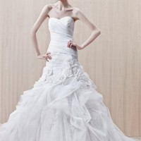 Ball gown sexy organza Strapless sweetheart sweep train white 2012 spring Enzoani Wedding Dresses EWD047 -Shop offer 2012 wedding dresses,prom dresses,party dresses for girls on sale. #Category#