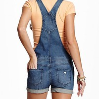 GUESS Cheryll Denim Short Overall at Guess