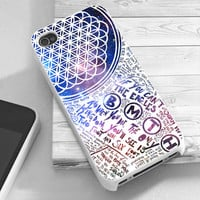 Bring Me The Horizon Collage White Galaxy - RiyanTani - Custom Print Hard Case - iPhone 4/4/s/5/5s/5c and Samsung S2 S3 S4