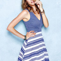 Sleeveless Fit-and-Flare Dress - Victoria's Secret
