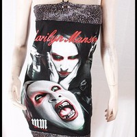 Marilyn Manson DIY Tube Dress Top Shirt M by supapun on Etsy